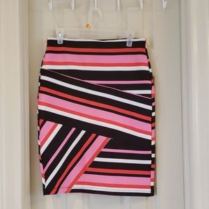 Pink and black strips Skirt by NYCC